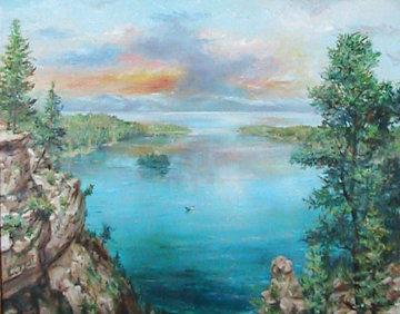 Emerald Bay 24x30 Lake Tahoe Ca 24x30 Original Painting by Eva Makk