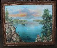 Emerald Bay 24x30 Lake Tahoe Ca 24x30 Original Painting by Eva Makk - 1
