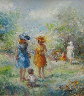 Day in May 1985 24x30 Original Painting by Eva Makk