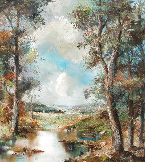Landscape  40x37 Huge Original Painting - Eva Makk