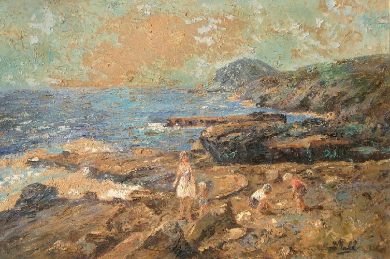 Hanauma Bay, Oahu, Hawaii 24x36 Original Painting by Eva Makk