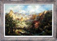 Mountain Landscape 34x46 Super Huge Original Painting by Eva Makk - 1