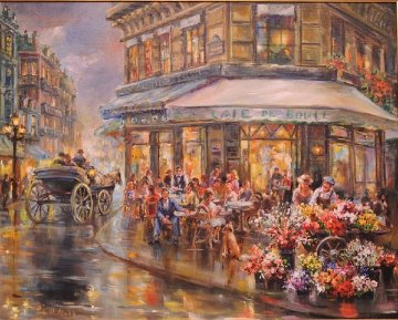 Paris I Love 34x40 Original Painting - Eva Makk