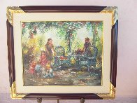Rocking Chair 41x35 Super Huge Original Painting by Eva Makk - 1