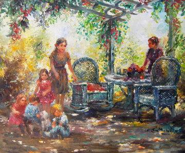 Rocking Chair 41x35 Original Painting by Eva Makk