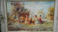 Restful 44x32 Super Huge Original Painting by Eva Makk - 1