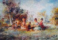 Restful 44x32 Super Huge Original Painting by Eva Makk - 0