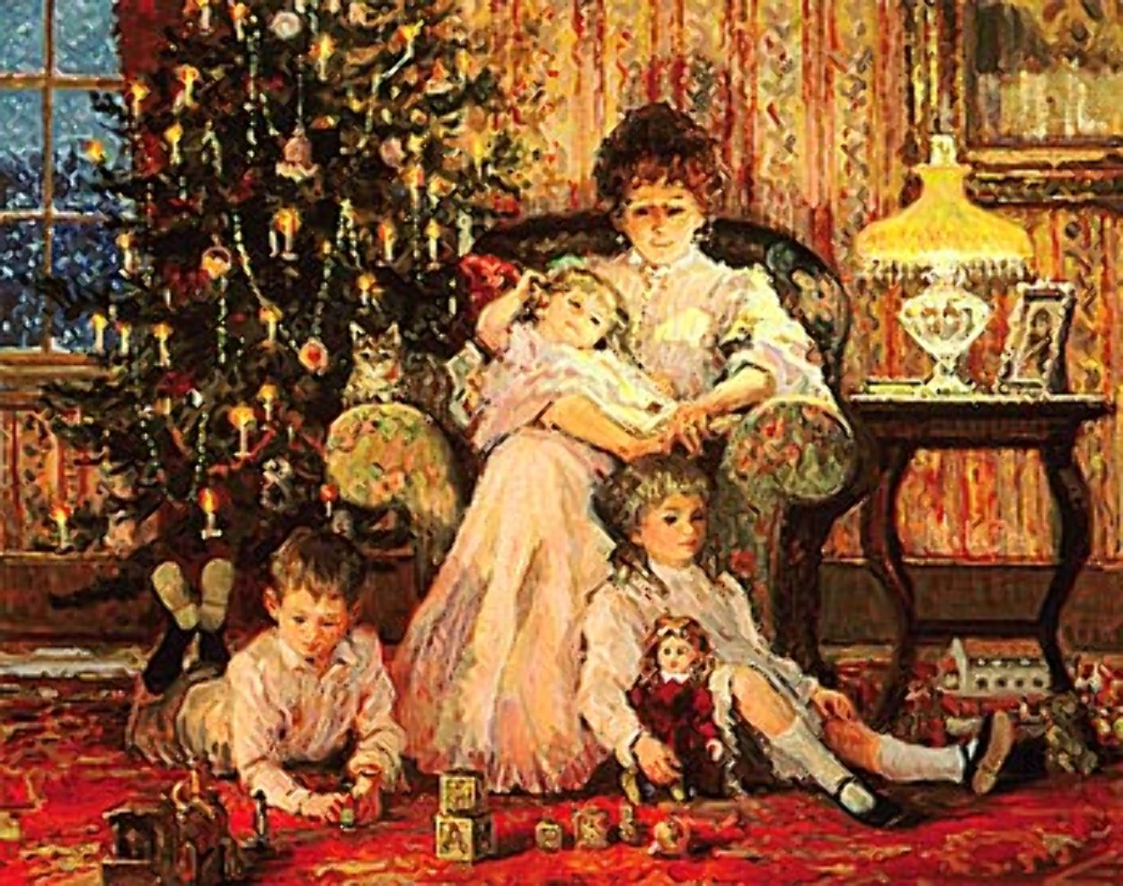 Circle of Love 1986 Limited Edition Print by Alan Maley