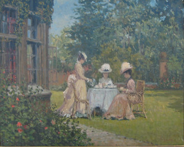 Garden Party 24x29 Original Painting by Alan Maley