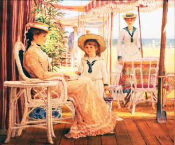 Intimate Moment 1991 40x46 Original Painting - Alan Maley