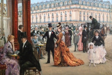 Parisian Beauties 1958 41x58  Original Painting - Alan Maley