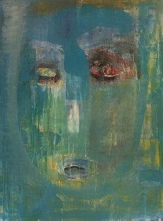 Face 2004 48x36 Huge Original Painting - Daniel Maltzman