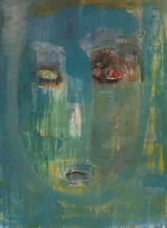 Face 2004 48x36 Super Huge Original Painting - Daniel Maltzman