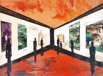 Untitled Painting 2005 36x48 Huge  Original Painting - Daniel Maltzman