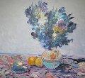 Van Gogh's Flowers 1969 (Early) 41x36 Original Painting - Omar Malva