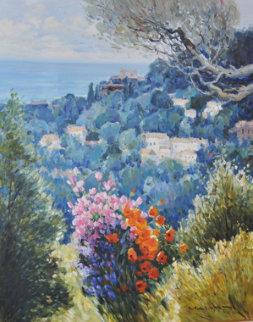 Autumn Morning 40x32 Original Painting - Omar Malva