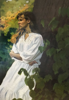 Anya's Thoughts 1995 21x29 Original Painting - Gregory Manchess