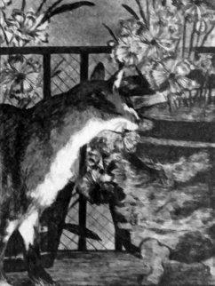 Le Chat Avec Les Fleurs Limited Edition Print - Edouard Manet