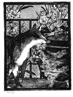 Le Chat Et Les Fleurs 1869 Limited Edition Print - Edouard Manet