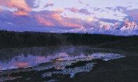 First Light - Grand Teton Panorama by Thomas Mangelsen - 0