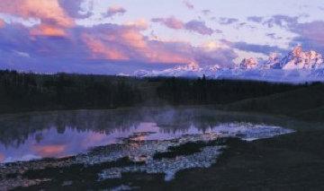 First Light - Grand Teton Panorama by Thomas Mangelsen
