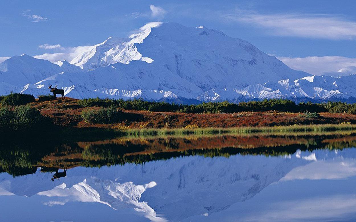 Reflections of Denali - Super Huge Panorama by Thomas Mangelsen