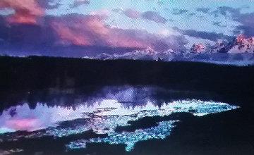 First Light - Grand Teton  Panorama - Thomas Mangelsen