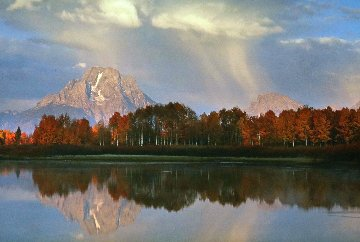 September Showers-Oxbow Bend 2003 Panorama by Thomas Mangelsen