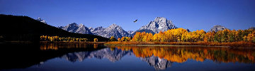 High Noon on the Oxbow Bend  2M Super Huge Tetons Panorama - Thomas Mangelsen