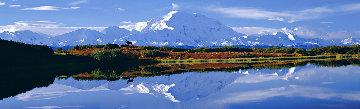 Reflections of Denali 27.5x73.5 in, 1998 Panorama - Thomas Mangelsen