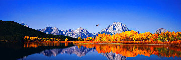 High Noon on the Oxbow Bend Huge Panorama - Thomas Mangelsen