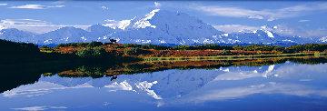 Reflections of Denali AP Panorama - Thomas Mangelsen