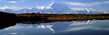 Reflections of Denali AP Panorama by Thomas Mangelsen