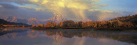 September Showers, Oxbow Bend  - Super Huge Panorama by Thomas Mangelsen - 0