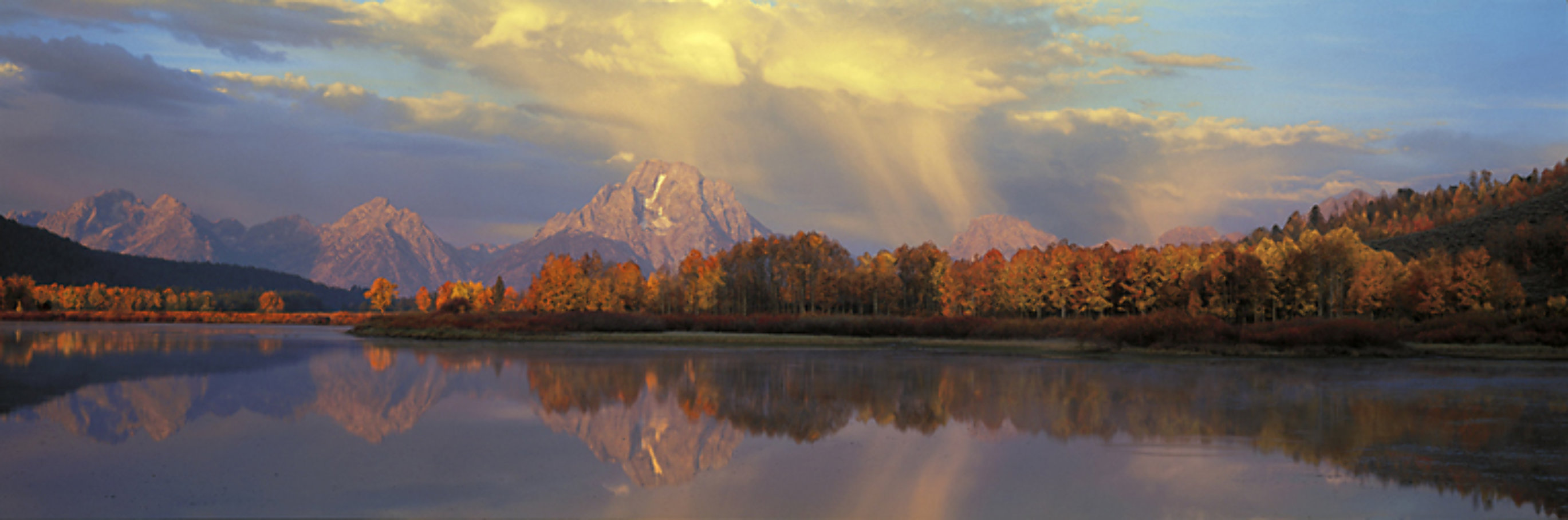 September Showers, Oxbow Bend  - Super Huge 110 in Panorama by Thomas Mangelsen