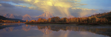 September Showers, Oxbow Bend  Panorama by Thomas Mangelsen