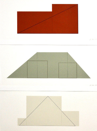 Untitled From Multiple Panel Paintings, Three Screenprints 1973-1976   by Robert Mangold