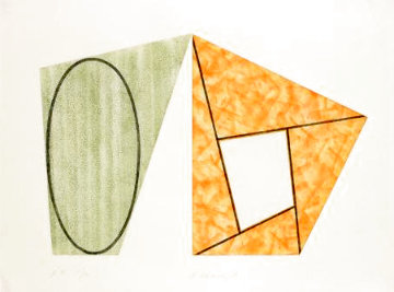 Frames and Ellipses: B 1988 Limited Edition Print - Robert Mangold