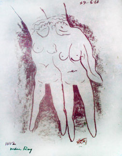 Suite of 3 Man Ray Erotic Lithographs 1965 Limited Edition Print -  Man Ray