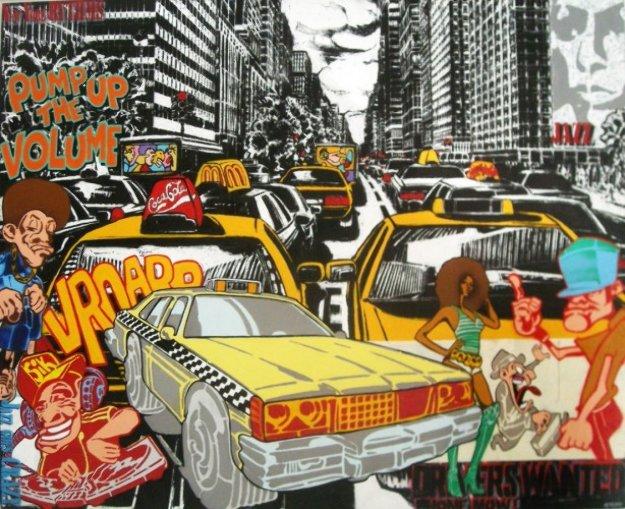 Serie Noire 2010 64x51 Original Painting by Marc Ferrero