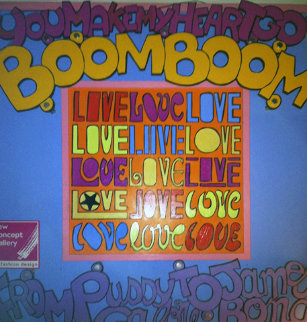 Boom Boom 2005 40x40 Super Huge Original Painting - Marc Ferrero