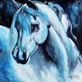 Arabian Azure 2012 18x18 Original Painting - Marcia Baldwin
