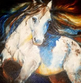 Moonlight Apaloosa 2012 24x24 Original Painting by Marcia Baldwin