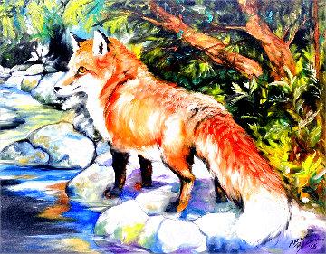 Red Fox 3 2005 16x20 Original Painting - Marcia Baldwin