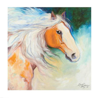 Percheron Draft Horse 2009 Limited Edition Print - Marcia Baldwin