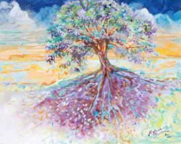 Treescape 29x16 Original Painting - Marcia Baldwin