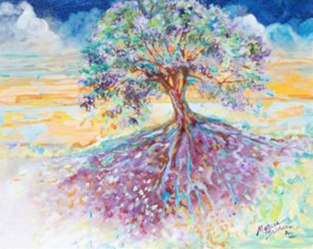 Treescape 29x16 Original Painting by Marcia Baldwin