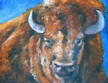 Buffalo 111 22x28 Original Painting by Marcia Baldwin