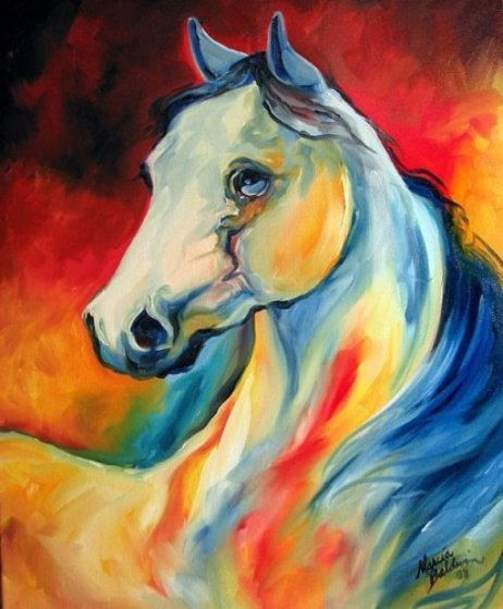 Regal Equine 2008 24x20 Original Painting by Marcia Baldwin