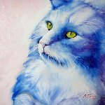 Blue Kitty Dream 2009 Limited Edition Print - Marcia Baldwin